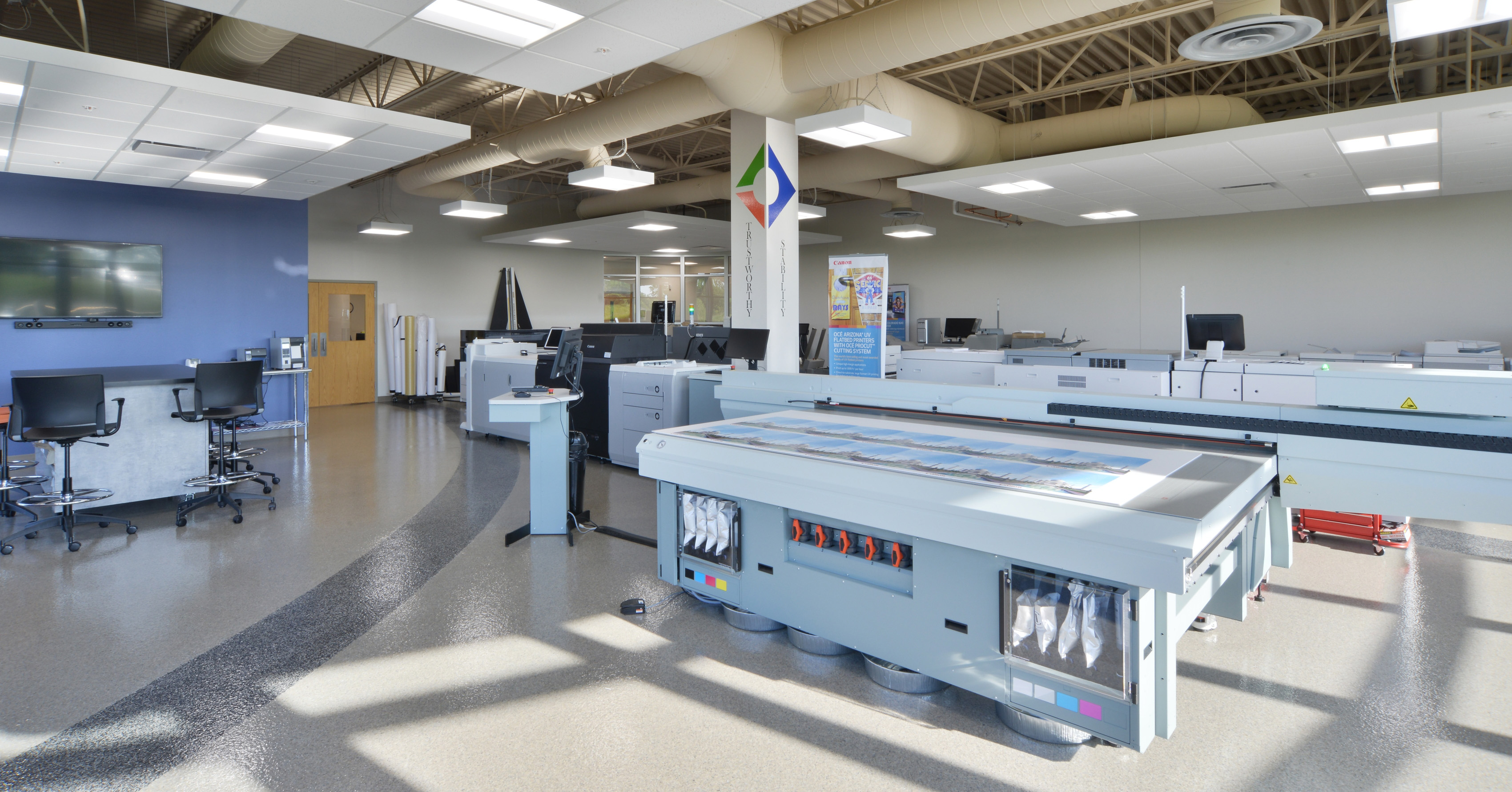 Production Print Showroom at EO Johnson Business Technologies Helps Customers Make the Right Call